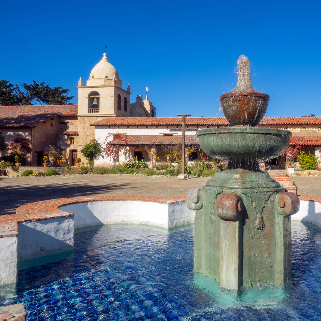 Sights in Carmel include Mission Carmel, Father Junípero Serra's personal favorite.