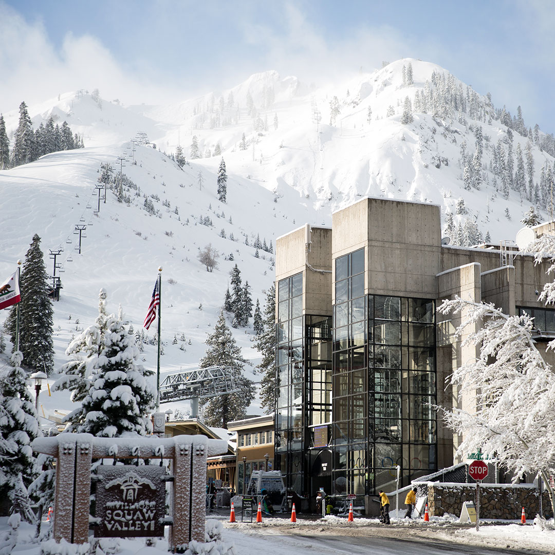Fresh snow at Squaw Valley.