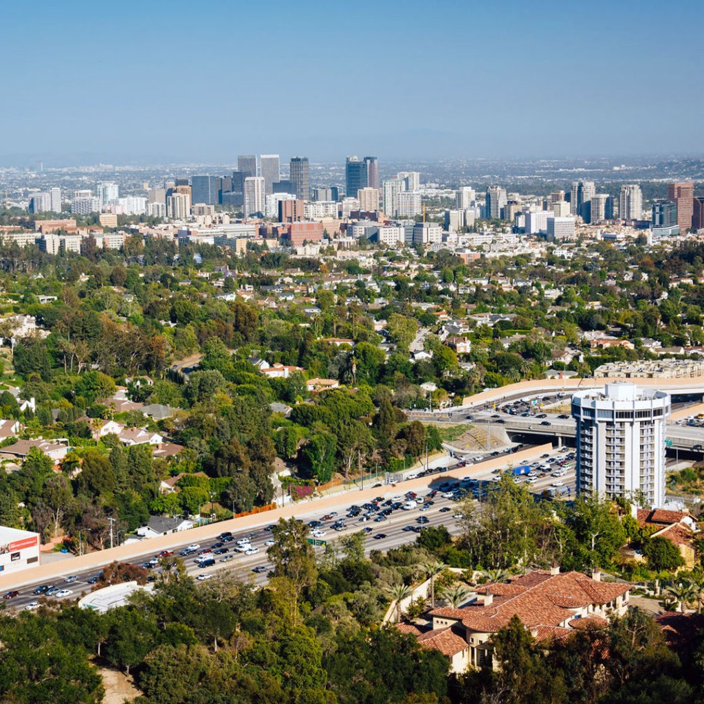 view from atop the getty center in los angeles