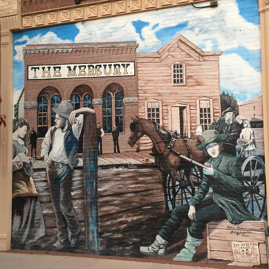 mural on side of building in Canon City