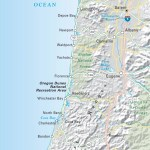 Topographical Map of Coastal Oregon