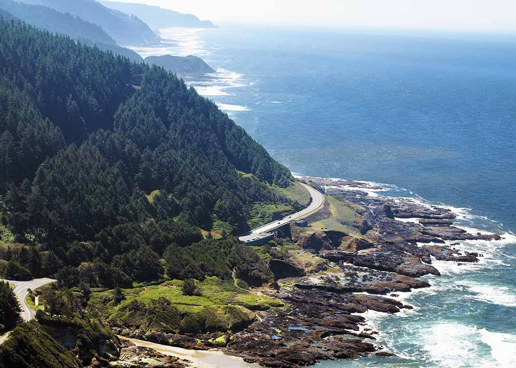 The view from atop Cape Perpetua.