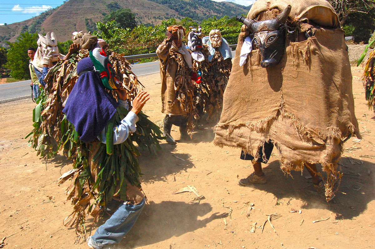 Masked Dance of the Little Devils festival of the indgenous Boruca of Costa Rica.