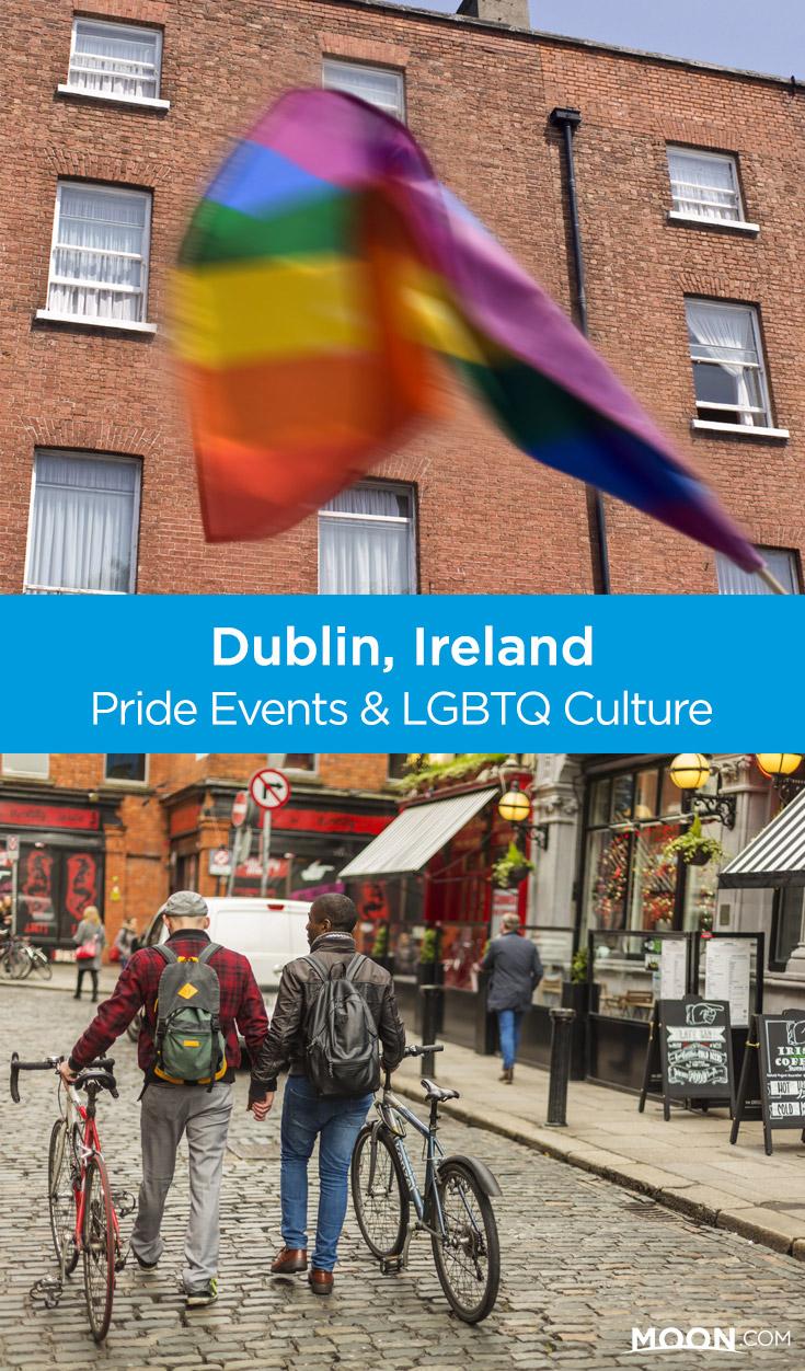 gay pride in dublin pin graphic