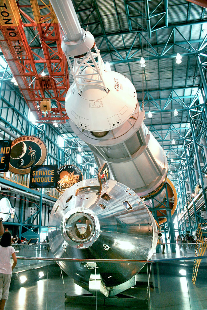 Inside the Kennedy Space Center.