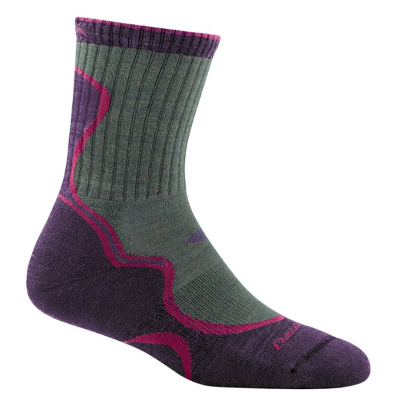 green, black, and purple socks