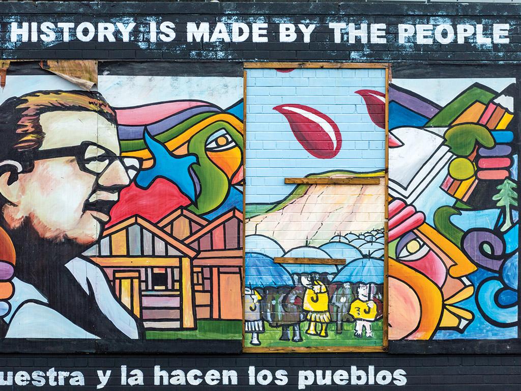 mural on a brick wall in Belfast Ireland