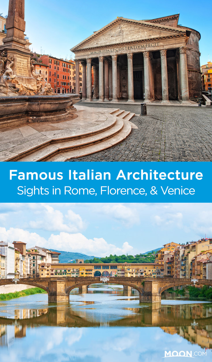 Rome, Florence, and Venice offer remarkable feats of engineering, from iconic monuments and palatial estates to improbable domes and humble homes. Here are some highlights of famous Italian architecture in Italy's most renowned cities. #italy #art #travel