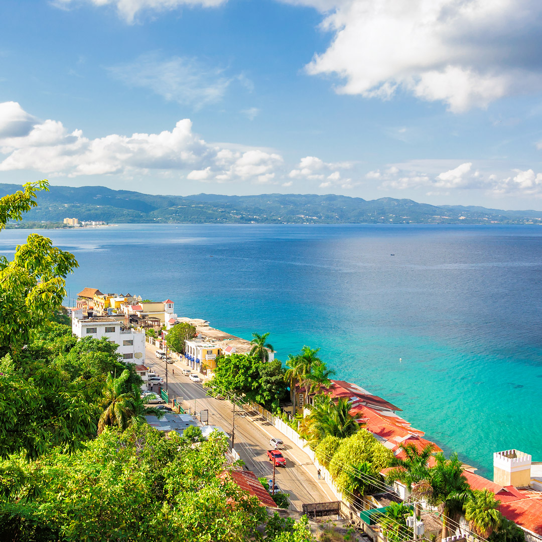 view over Montego Bay Jamaica