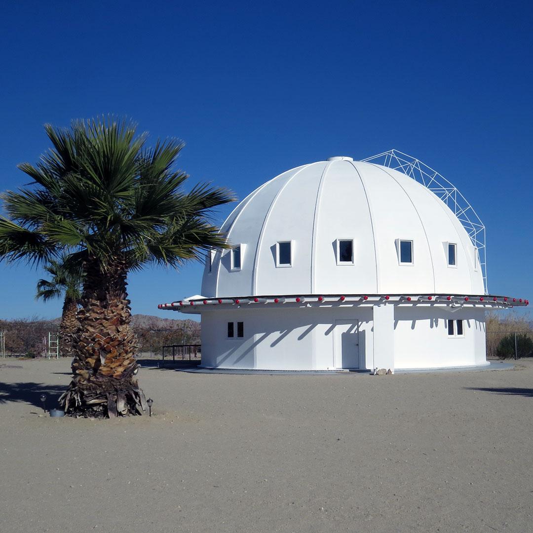 White dome of Integratron building in Landers California