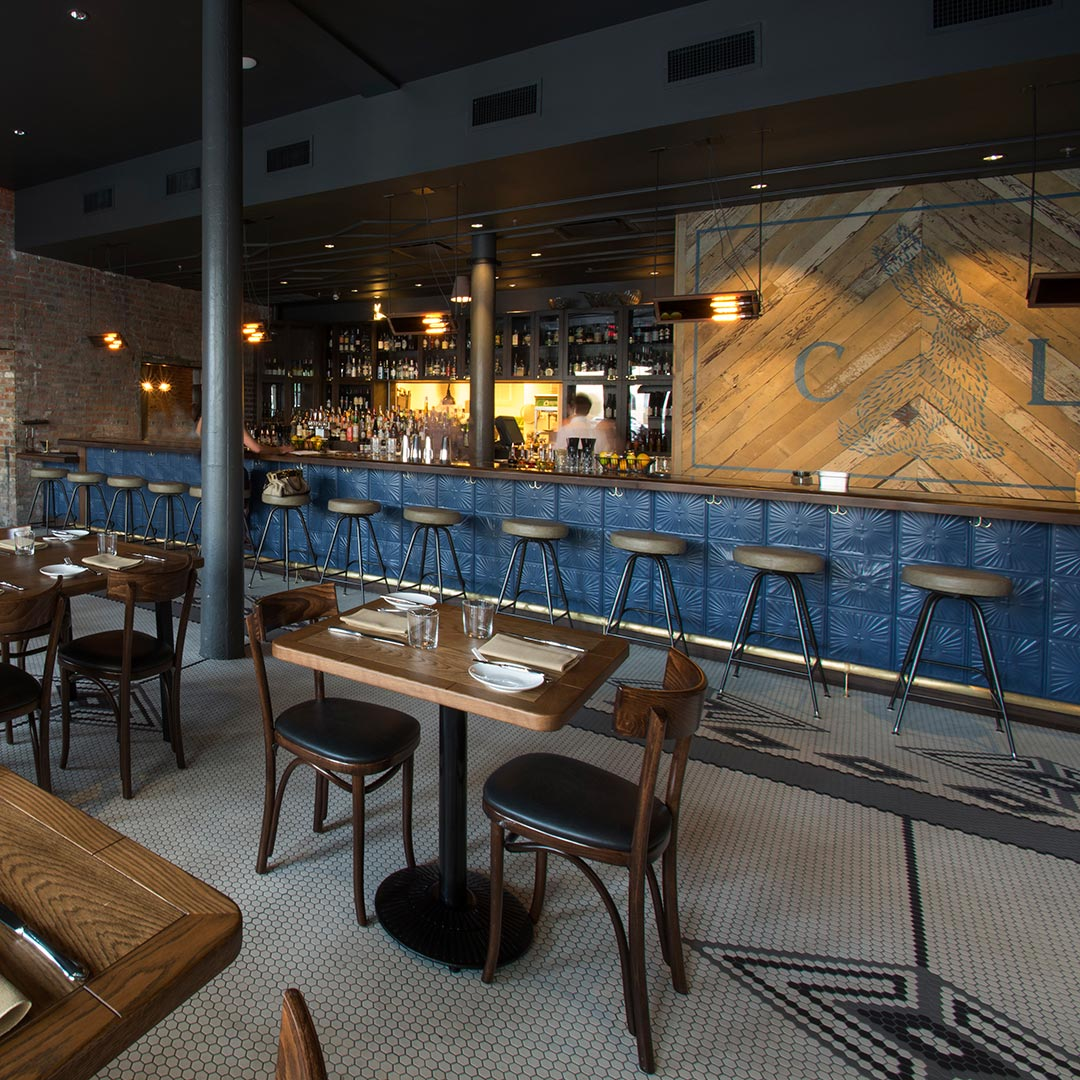 Enjoy the food and the bar at Compére Lapin