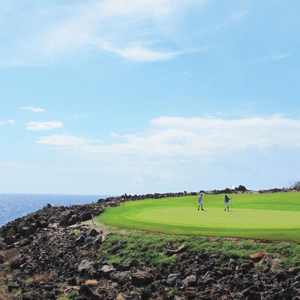 Golfing in Lanai. Photo © Kyle Ellison.