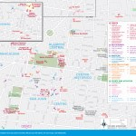 Travel maps of Mexico City's Alameda Central and San Juan
