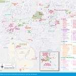 Travel maps of Mexico City's Coyoacán, San Ángel, and Ciudad Universitaria