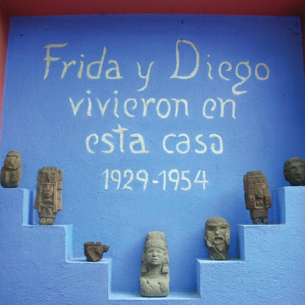 wall inscription in the Frida Kahlo museum