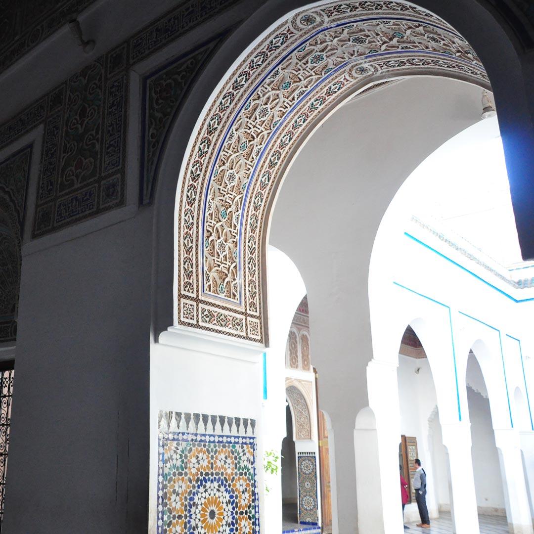 tile detail in a doorway of Bahia Palace