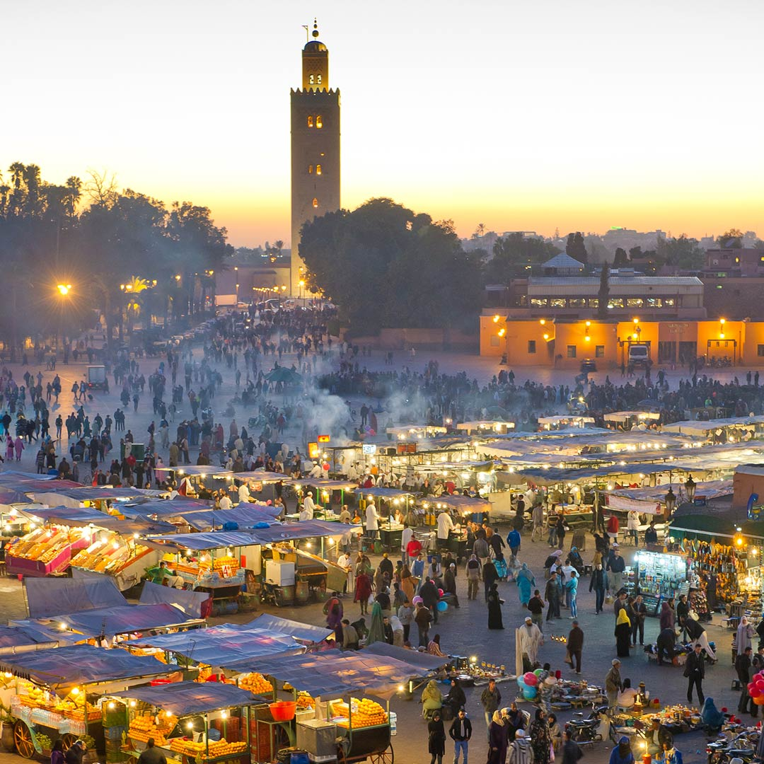 Sunset over Jemaa el-Fnaa