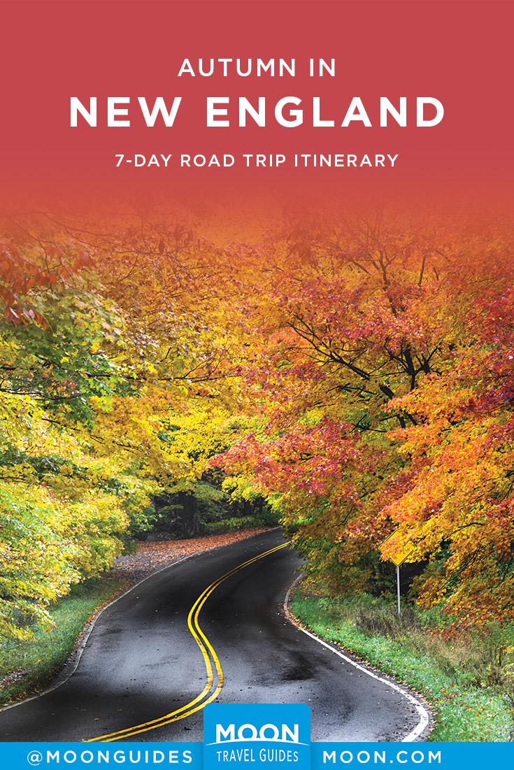 New England Fall Foliage Road Trip Pinterest graphic