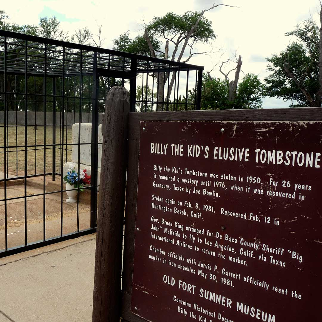 Billy the Kid grave at Fort Sumner