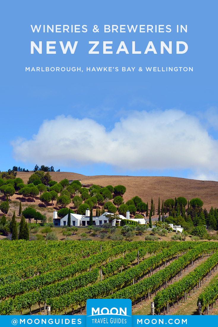 New Zealand wineries and breweries pinterest graphic