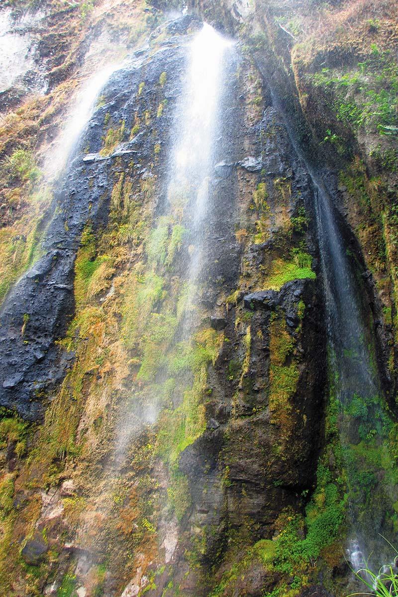 The Arcoiris waterfall at Peñas Blancas in Nicaragua.