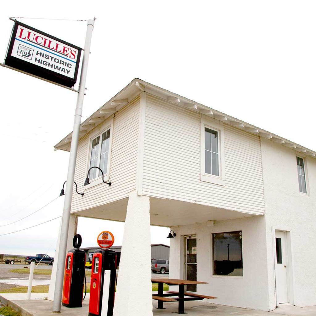 Lucille's Service Station in Hydro, OK. Photo © Candacy Taylor.