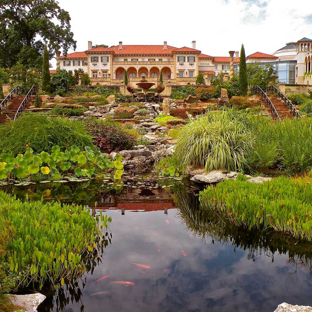 The Philbrook Museum is housed within a mansion in Tulsa.