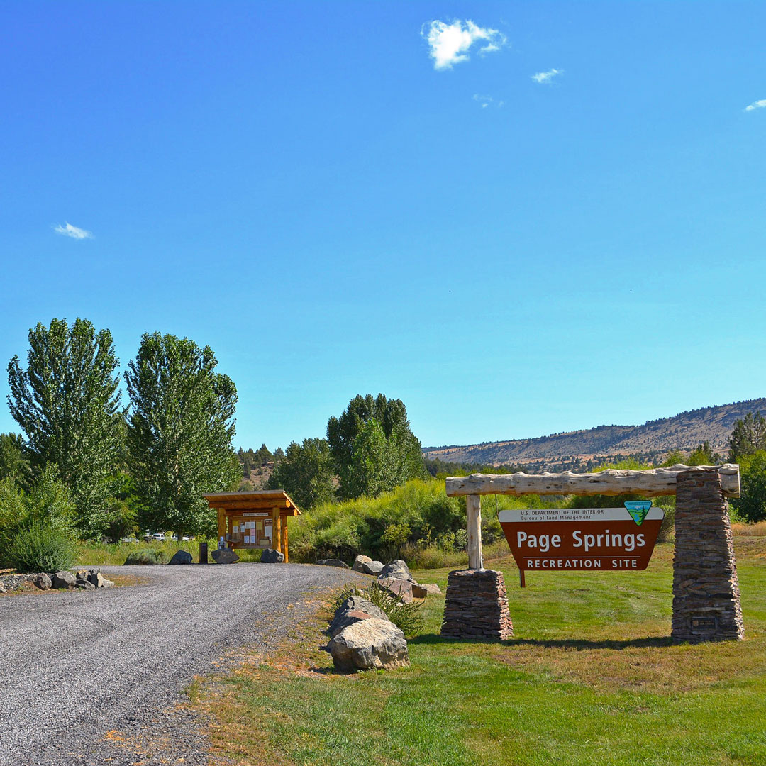 entrance sign in page springs recreation site in oregon