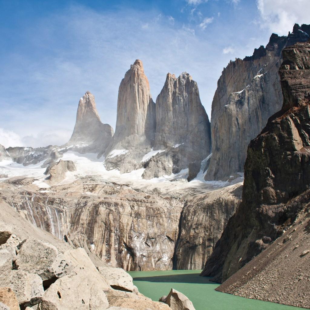 spiries of Torres del Paine in Patagonia