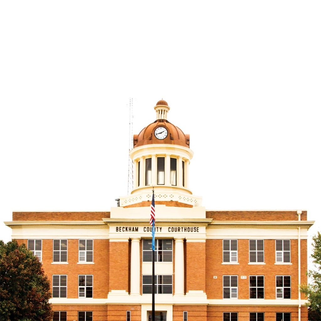 Beckham County Courthouse in Sayre, Oklahoma. Photo © Candacy Taylor.
