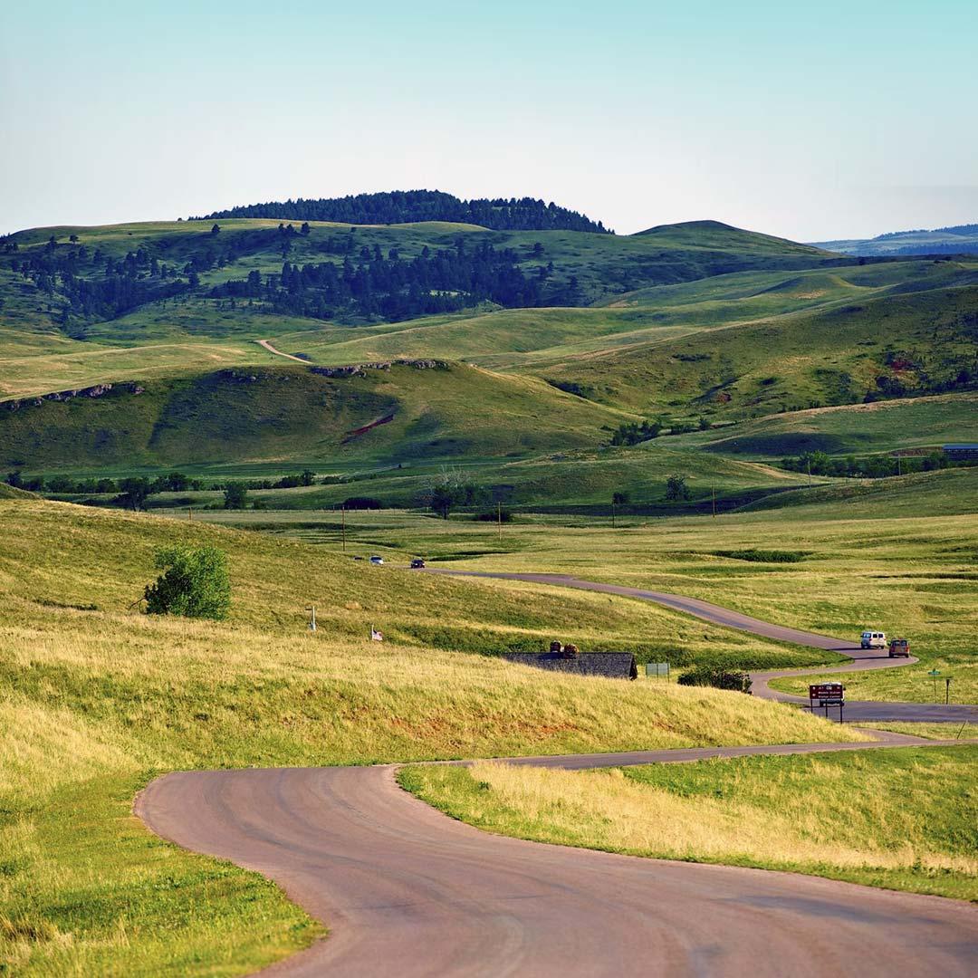 Rolling hills in South Dakota's Custer State Park.