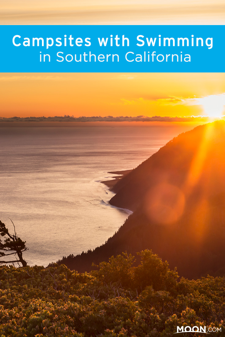 Southern California camping pinterest graphic