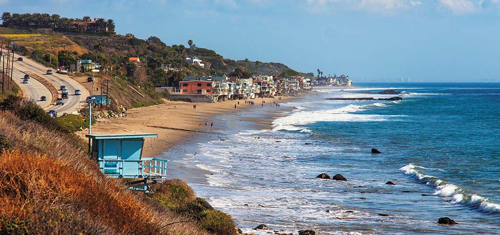 View of Malibu Beach from the PCH. Photo © Simon Whitehurts/DollarPhotoClub.