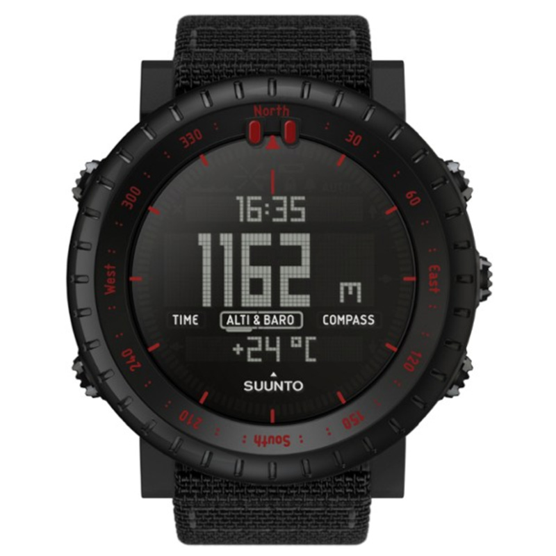 black watch with digital display