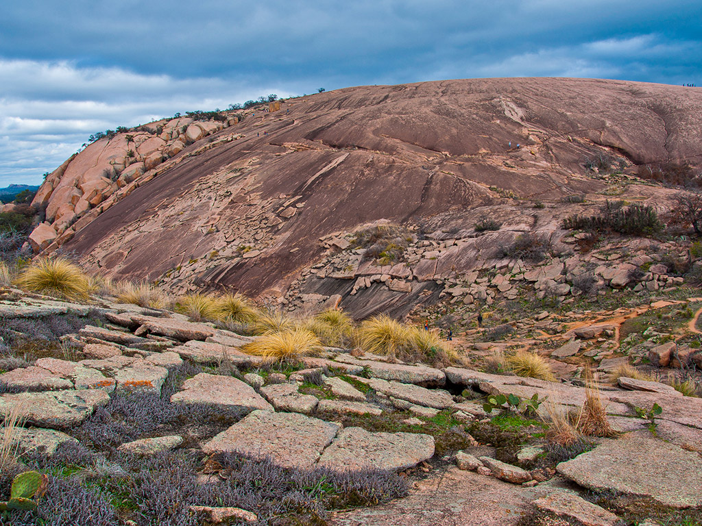 rugged landscape of Enchanted Rock State Park in Texas