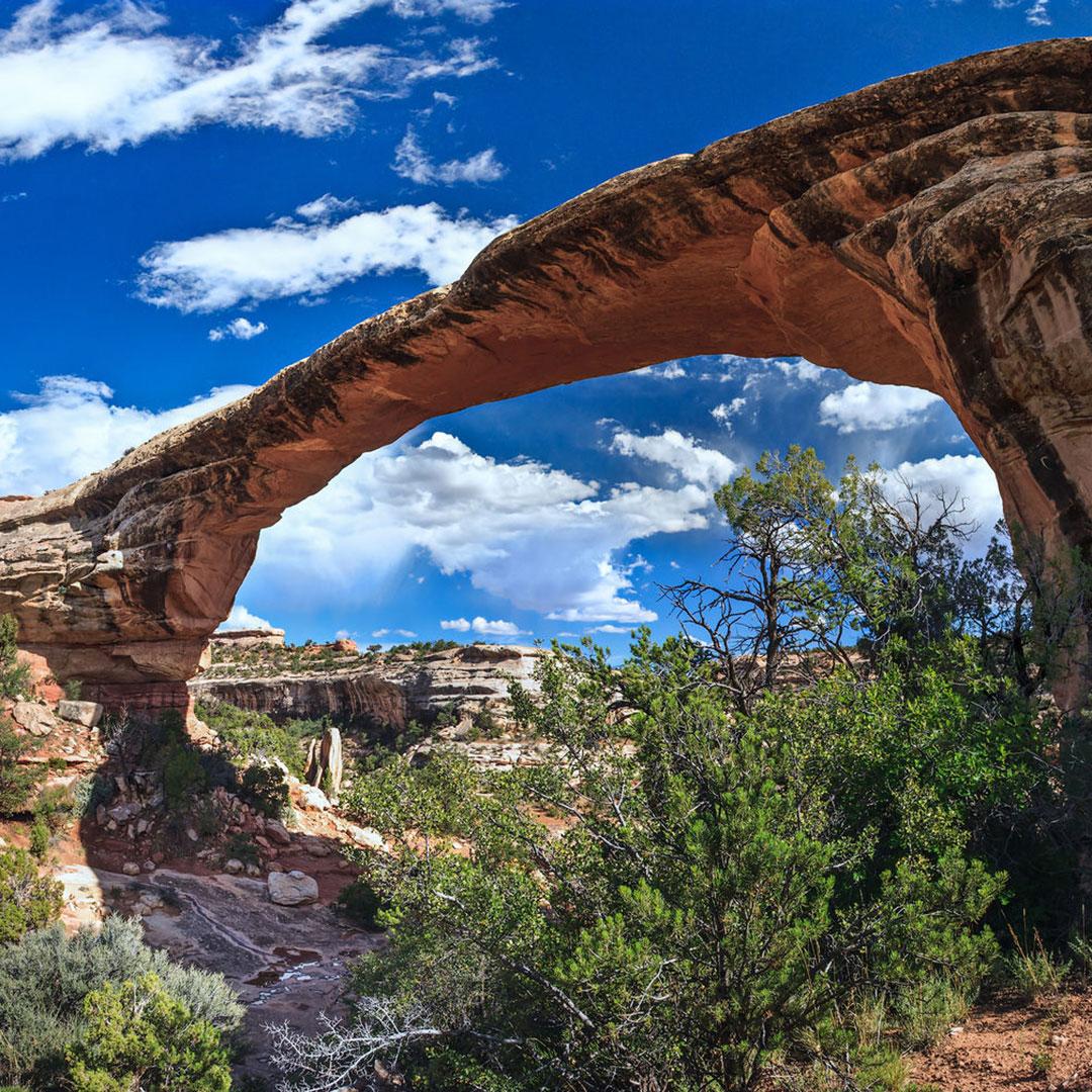 Owatomo Bridge in Utah's Natural Bridges National Monument.