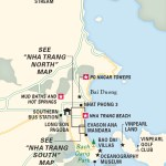 Travel map of the vicinity of Nha Trang in Vietnam