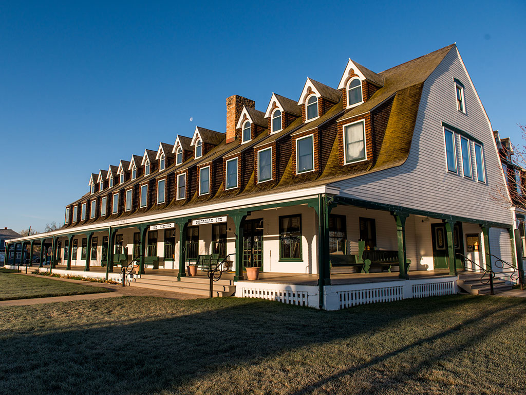 side view of the Sheridan Inn in Wyoming