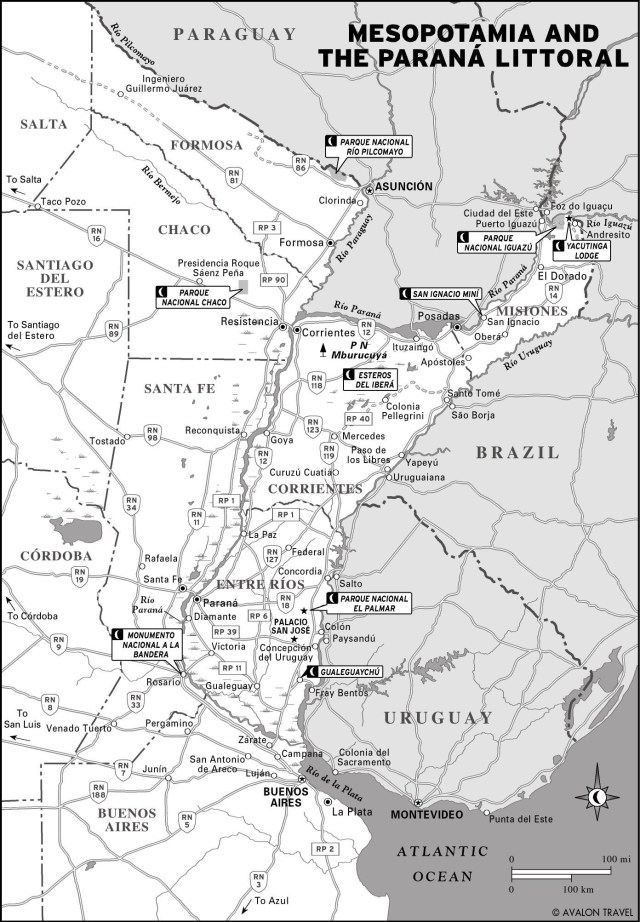 Map of Mesopotamia and the Paraná Littoral in Argentina