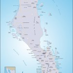 Map of the Cape of Baja Mexico