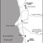 Map of Ensenada to El Rosario