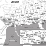 Map of Ushuaia, Chile