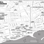 Map of Central Santo Domingo, Dominican Republic