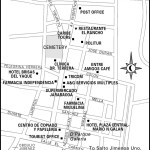 Map of Jarabacoa, Dominican Republic