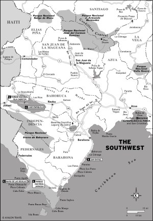 Map of The Southwest, Dominican Republic