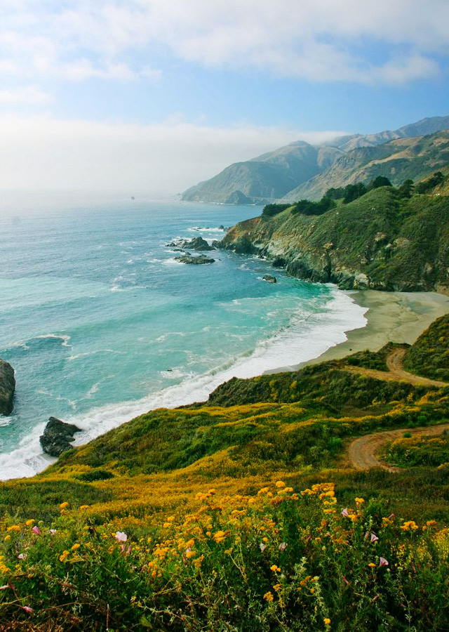 If driving along Pacific cliffs appeals to you, hop on Pacific Coast Highway 1 when you hit San Luis Obispo.