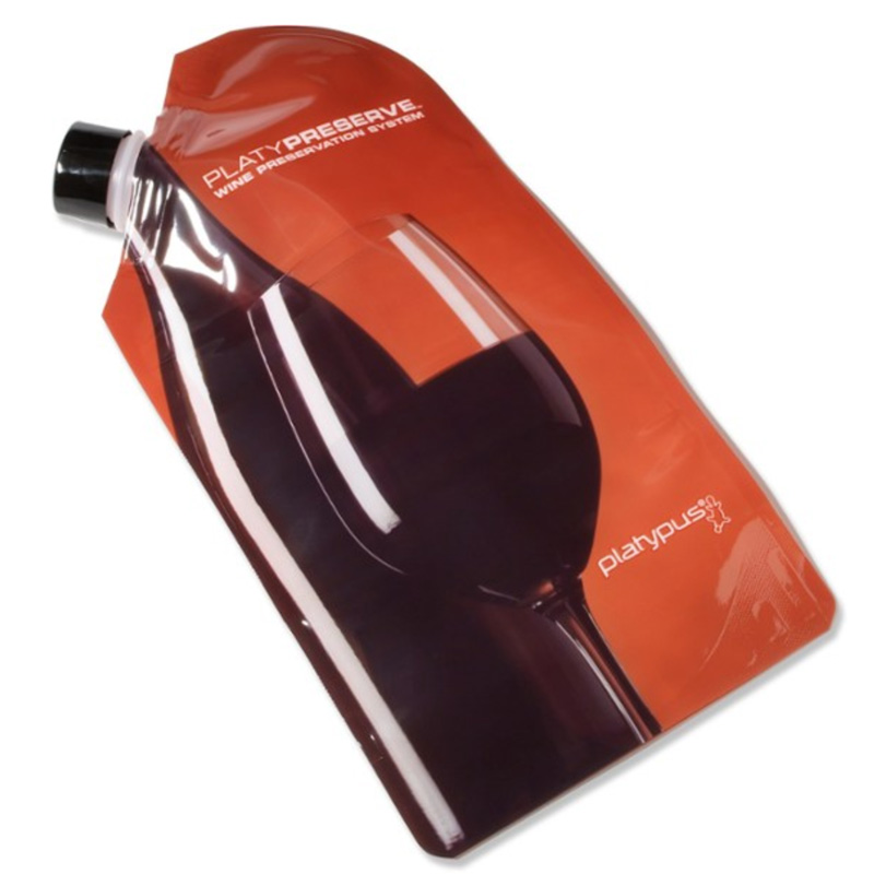 pastic pouch for storing wine