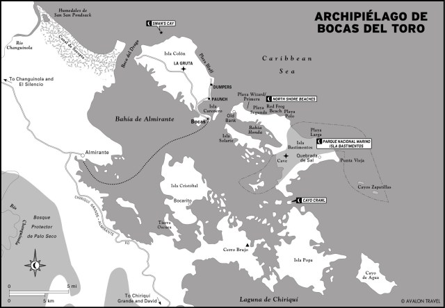 Map of Archipiélago de Bocas, Panama