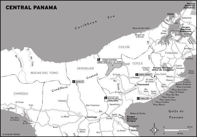 Map of Central Panama