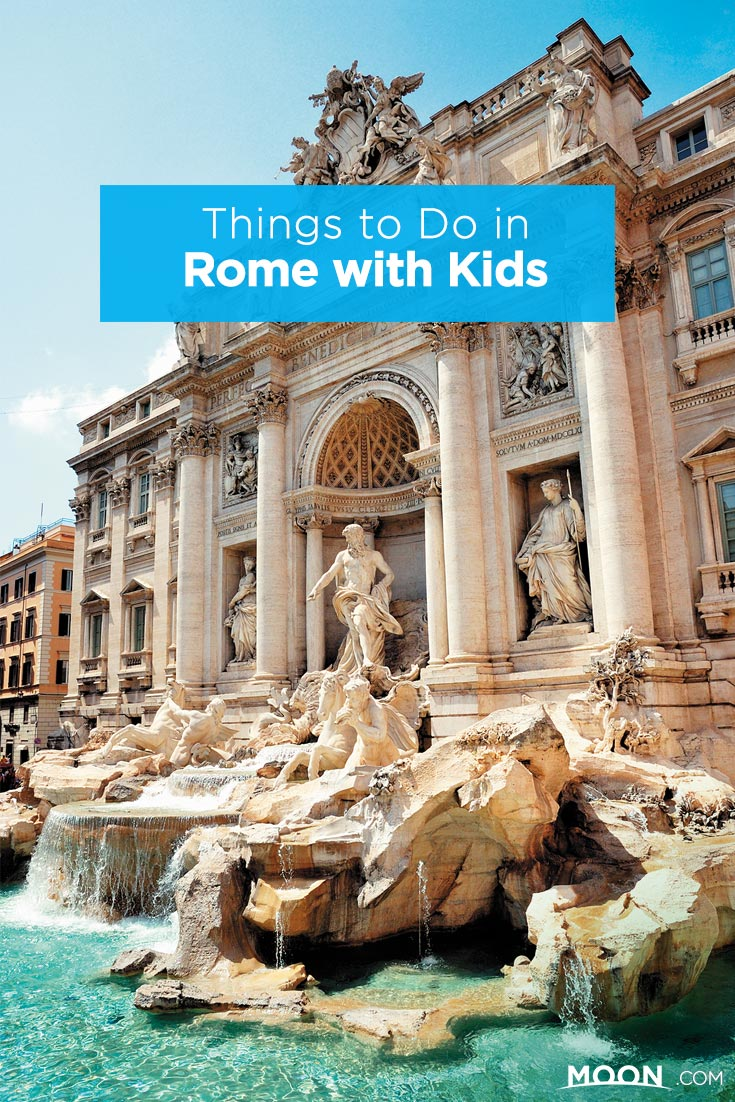 Things to Do in Rome with Kids pinterest graphic.